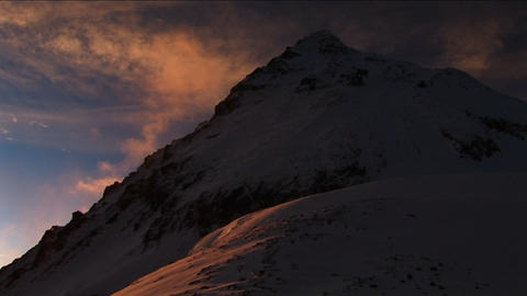 Sunrise on Everest illuminates mountain Footage