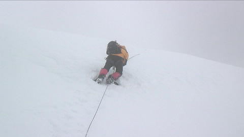 Climber up ahead climbing Stock Video Footage