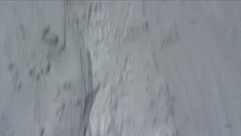POV looks at peak then feet then climber in front Stock Video Footage