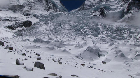 Tile up to Khumbu Icefall from basecamp Footage