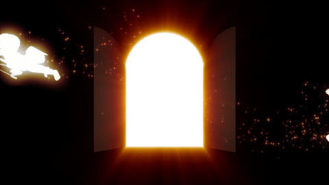 Door of the light Stock Video Footage