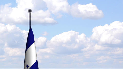 Animated Flag of Honduras Stock Video Footage