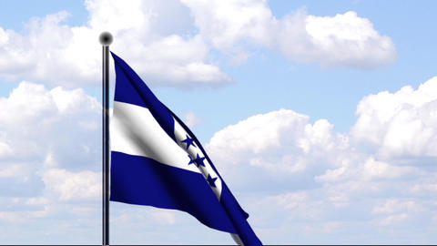 Animated Flag of Honduras Stock Video Footage