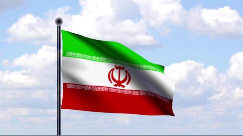 Animated Flag of Iran / Animierte Flagge von Iran Stock Video Footage