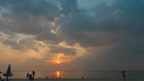 Golden sunset Footage