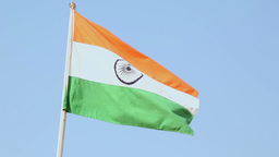 Flag of Idia Stock Video Footage