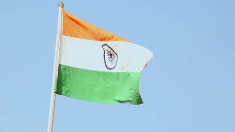 Flag of Idia Stock Video Footage
