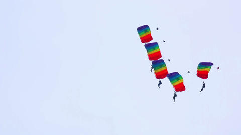 Paragliding show Footage