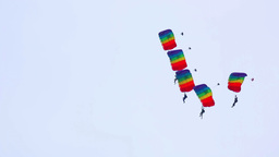 Paragliding show Stock Video Footage