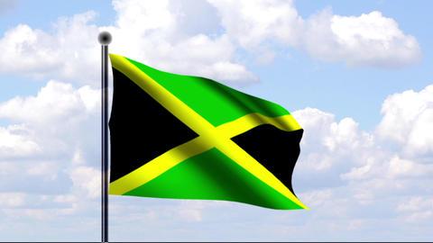 Animated Flag of Jamaica / Jamaika Stock Video Footage
