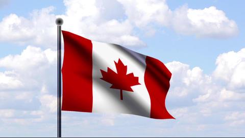 Animated Flag of Canada / Kanada Stock Video Footage