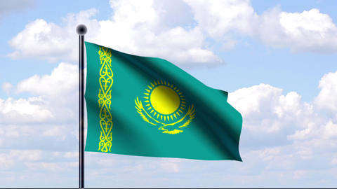 Animated Flag of Kazakhstan / Kasachstan Animation