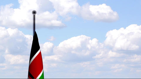 Animated Flag of Kenya / Kenia Stock Video Footage