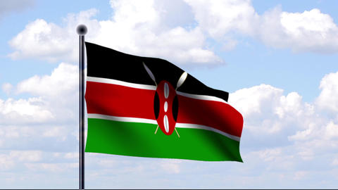 Animated Flag of Kenya / Kenia Animation