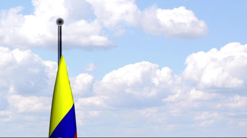 Animated Flag of Colombia / Animierte Flagge von K Stock Video Footage