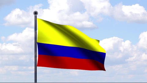 Animated Flag of Colombia / Animierte Flagge von K Animation