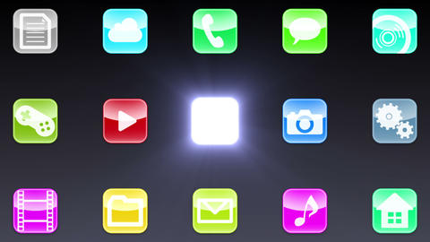 Smart Phone apps G Db 1 HD Stock Video Footage