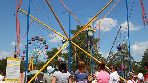 Carnival Ride Stock Video Footage