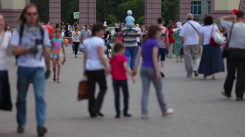 Defocused crowd Stock Video Footage