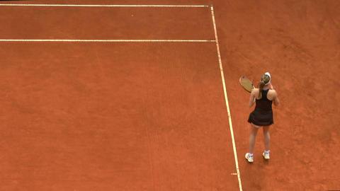 tennis girl black 01 Footage