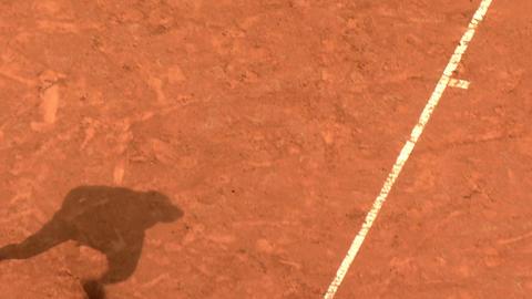 tennis shadow 02 Stock Video Footage