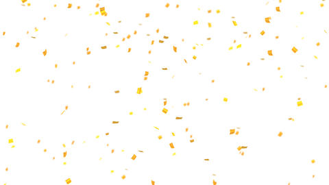 confetti 002 gold Stock Video Footage