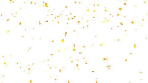 confetti 002 gold Stock Video Footage