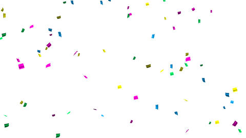 confetti 004 colorful2 Stock Video Footage