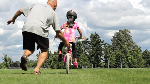 Girl Rides Bike First Time Without Training Wheels Footage