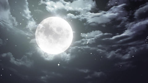 Halloween moon and dark sky Animation