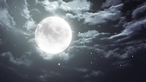 Halloween moon and dark sky Stock Video Footage
