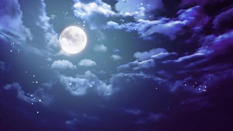 Halloween moon wide Stock Video Footage