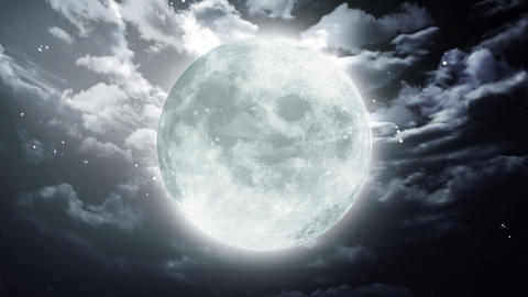 Large Halloween moon dark sky Animation