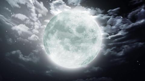 Large Halloween moon dark sky Stock Video Footage