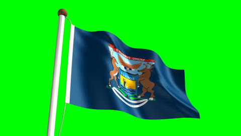 Michigan flag Animation
