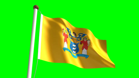 New Jersey flag Animation