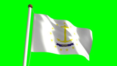 Rhode Island Flag Stock Video Footage