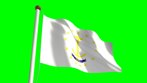 Rhode Island Flag Stock Video Footage