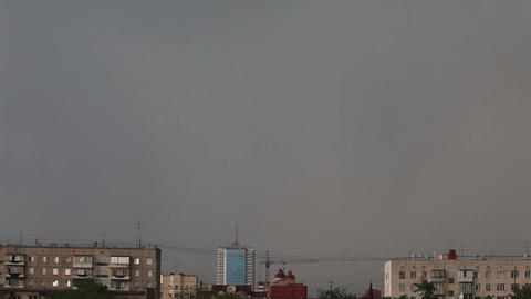Lightning in the city Stock Video Footage