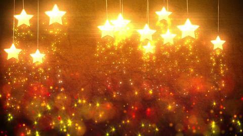 Stars Decorations Loop stock footage