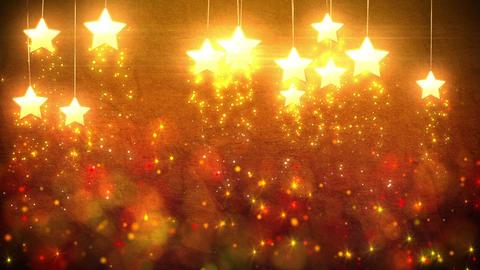 Stars decorations loop Stock Video Footage