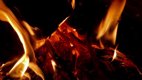 Heat in fireplace Stock Video Footage