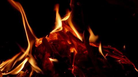 Heat in fireplace Footage