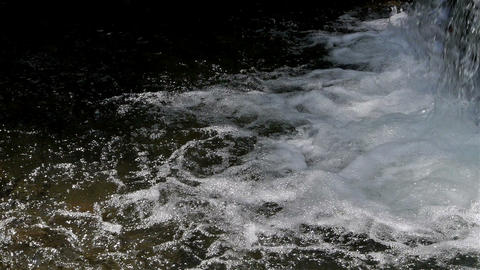 Bubbling stream of water Stock Video Footage
