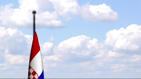 Animated Flag of Croatia / Kroatien Stock Video Footage
