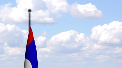 Animated Flag of Laos / Animierte Flagge von Laos Stock Video Footage