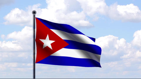 Animated Flag of Cuba / Animierte Flagge von Kuba Animation