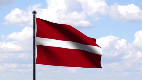 Animated Flag of Latvia / Lettland Animation