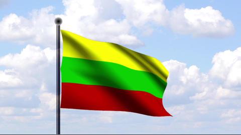 Animated Flag of Latvia / Litauen Stock Video Footage