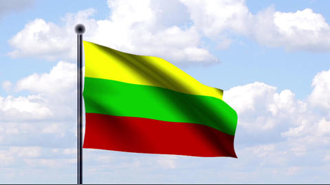 Animated Flag of Latvia / Litauen Animation